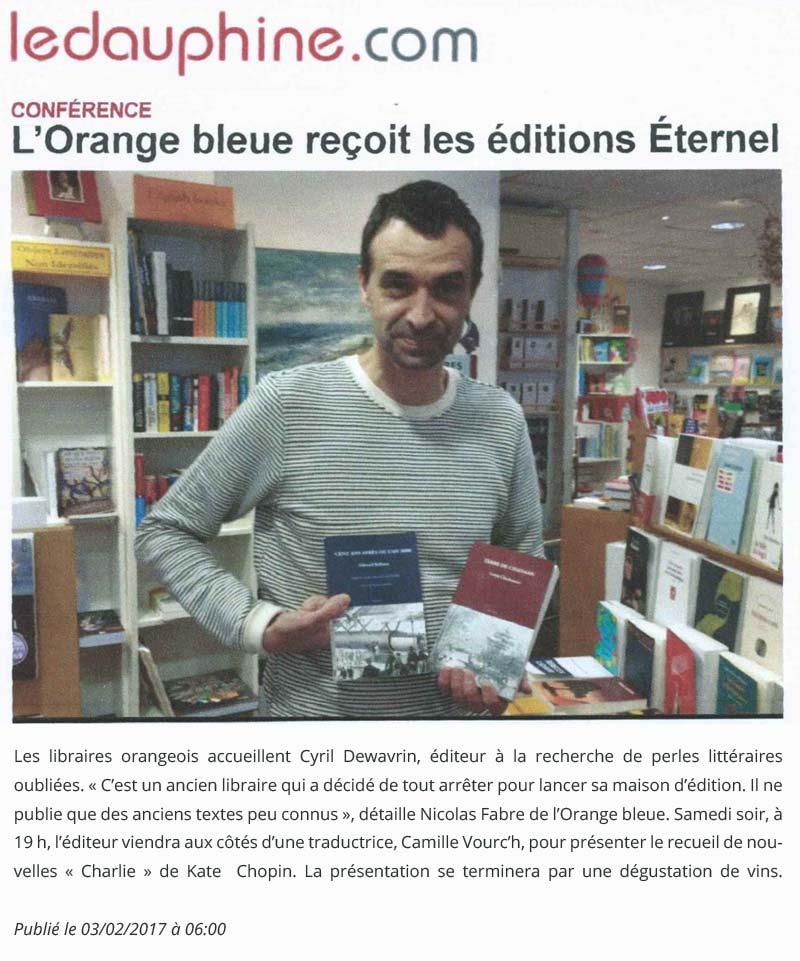 Éditions Éternel : une maison d'édition qui nous fait découvrir des auteurs !