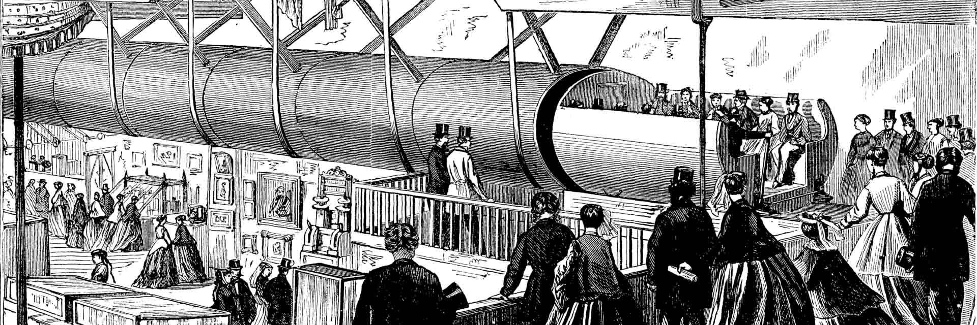 La gravure qui illustre Cent ans après ou l'an 2000 d'Edward Bellamy : Éditions Éternel.
